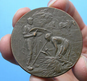 MEDAILLE Agriculture de Blois par RIVET 48mm Bronze 58gr