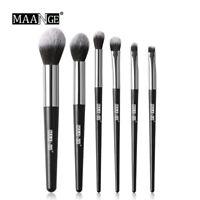 6Pcs Eyeshadow Cosmetics Makeup Brush Set Powder Foundation Eyeliner Brushes Set