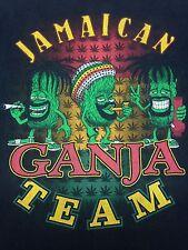 Jamaican Ganja Team black large T-Shirt Rasta Smoke