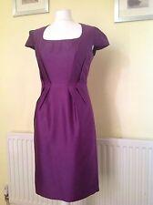 HOBBS Purple WOOL/SILK Dress UK 10