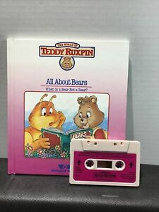 1985 ~ Teddy Ruxpin ~ All About Bears ~ Book AND Cassette Tape ~ VERY NICE!!!