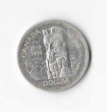 1958 Canadian Silver Dollar (AU-50)
