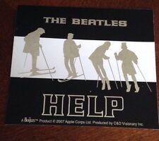 "The Beatles Help Skis Chrome Sticker 4.5""x4"""