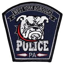 WEST YORK BOROUGH PENNSYLVANIA PA Police Sheriff Patch BULLDOG