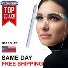 Clear Full Face Shield glass frame Protection Anti Virus Guard For Women SAFETY