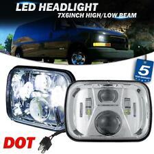 "Pair 5x7"" 7x6"" LED Headlight High Lumens Chrome Lamp for Chevy Express Cargo Van"