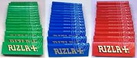 Genuine RIZLA * GREEN RED BLUE * Cigarette Regular Size Rolling Paper Booklets