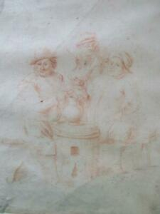 17th Century Dutch Old Master Drawing Sanguine With Collector's Stamp Rembrandt?