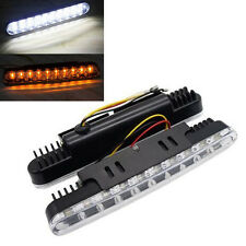 Universal 2x 30 LED Amber Turn Signal Lights & DRL Daytime Running Light White