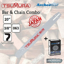 "20"" 3/8 .063 72DL TSUMURA Bar & ARCHER Chain Combo fits Stihl - FREE POSTAGE"