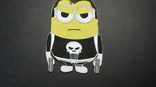 DESPICABLE ME MINION VIGILANTE THE PUNISHER EMBROIDERED PATCH SEW OR IRON ON