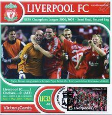 Liverpool 2006-07 Chelsea (Pepe Reina) Tarjeta de sello de fútbol UEFA victoria #632