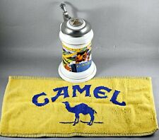 More details for camel cigarettes advertising beer stein with beer towel limited edition