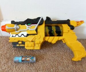 Power Rangers Deluxe Dino Charge Morpher Gun Yellow With No.13 Charger Toy