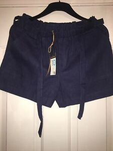 Primark Ladies Navy Linen Blend Shorts BNWT