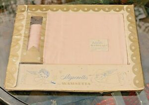 """Vintage Wamsutta """"Babycale"""" Infant crib sheet new old stock USA Fitted Pink rose"""