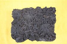 INDIAN WOODEN HAND CARVED TEXTILE PRINTING FABRIC BLOCK STAMP POTTERY STAMP FINE