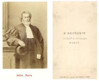 Jules Favre CDV vintage albumen carte de visite,  Tirage albuminé  6,5x10,5