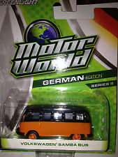 Greenlight MOTOR WORLD series 9 Volkswagen Samba Bus  orange & black