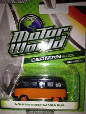 Greenlight MOTOR WORLD series 9 Volkswagen Samba Bus  orange & black