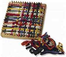 Folk Toys Classic Kid Wooden Weaving Weave Potholder Craft Wood Looper Loom T577