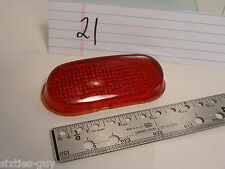 "1940 Chevrolet Auto Red Glass 333 Tail Light Lens 4-1/4"" X 2"" x 1"" 333 on lip"