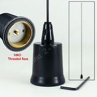 VHF 5/8 WAVE 144-174MHZ 2 METER BASE-LOADED NMO MOBILE ANTENNA ALL BLACK
