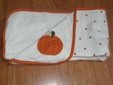 Gymboree Pumpkin Jersey Knit Receiving Baby Crib Blanket Lovey