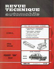 REVUE TECHNIQUE AUTOMOBILE 311 RTA 1972 PEUGEOT 504 DIESEL SIMCA 1100 & SPECIAL
