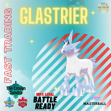 POKEMON SWORD & SHIELD GLASTRIER + MASTERBALL CROWN TUNDRA TRADING NOW