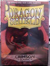 Crimson Classic - 100 ct - Dragon Shield Sleeves Standard Size FREE SHIPPING!