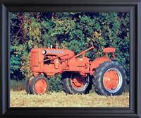 "1948 Allis Chalmus ""C"" Vintage Farm Tractor Wall Black Framed Picture Art 19x23"