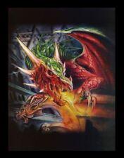 3d CUADRO CON DRAGÓN- Draco Basilica - ALCHEMY GOTHIC Fantasy Póster Impresión