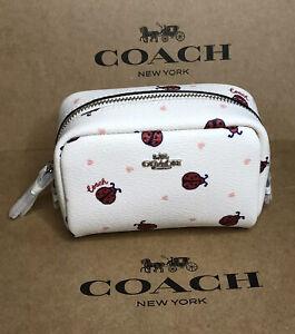 Coach Ladybug Mini Boxy Cosmetic Case Travel Makeup Bag