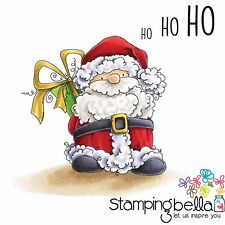 CHRISTMAS SANTA HoHo Cling style Unmounted Rubber Stamps STAMPINGBELLA New EB432