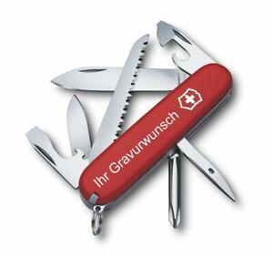 Victorinox Schweizer Taschenmesser Hiker rot mit Gravur Geschenk Wunschname