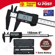150mm 6'' Inch Electronic Digital Vernier Caliper Micrometer Gauge Carbon Fiber