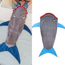Shark Mermaid Tail Soft Fleece Blanket Kids snuggle-in Sleeping Bag Fancy Dress