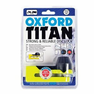 Oxford Motorcycle Motorbike Titan Security Brake Disc Lock New Yellow
