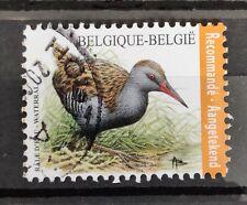 Belgium 2017 used - Oiseau râle d'eau recommandé - Vogel waterral aangetekend