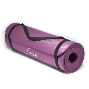 "Sivan Health & Fitness Yoga Mat - 1/2"" Thick, 71"" Inch Long - NBR Comfort Foam"