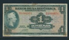 COLOMBIA  BANKNOTES  $1 PESO 1941 SILVER CERTIFICATE 7 DIGITS