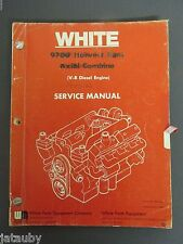 WHITE 9700 HARVEST BOSS AXIAL COMBINE SERVICE MANUAL V8 DIESEL ENGINE 1980