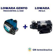 Kit Autoclave Elettropompa LOWARA PM 16 + Press Control LOWARA GENYO 8A/F22