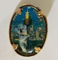 Sydney Tower Koala Bear Australia Sydney Souvenir Pin Badge Rare Vintage (A10)