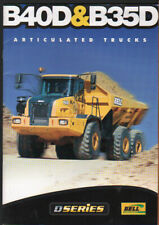 Bell B40D and B35D Articulated Dump Truck Brochure Leaflet