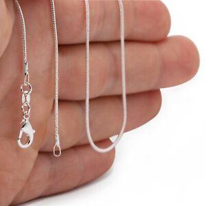 925 Sterling Silver Stamp Shiny Snake Chain Necklace UK Stock Same Day Dispatch