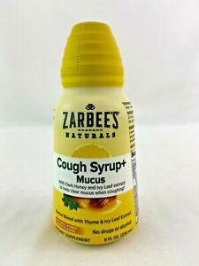 Zarbee's Naturals Cough Syrup + Mucus Honey Lemon Flavor 8 FL Oz
