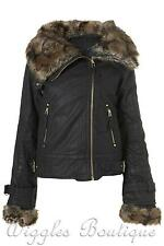 Cotton Patternless Outdoor Biker Jackets for Women
