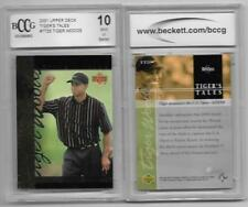 (2) TIGER WOODS DOMINATES US OPEN PEEBLE BEACH ROOKIES 2001 UPPER DECK GRADED 10